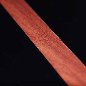 Plintenfabriek | Plakplint abachi houtfineer  striped mahogany