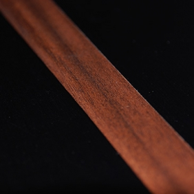 Plintenfabriek | Plakplint abachi houtfineer amberwood