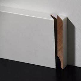 Plintenfabriek | Meranti eindstukje plint rechts - eenvoudig online bestellen