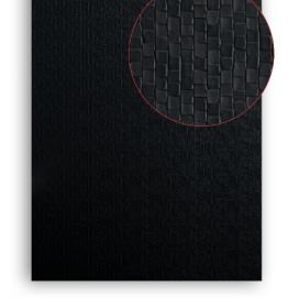 Plintenfabriek | MDF vochtwerend plaat zwart met structuur - eenvoudig online bestellen