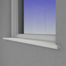 Plintenfabriek | Ares vensterbank MDF vochtwerend - eenvoudig online bestellen