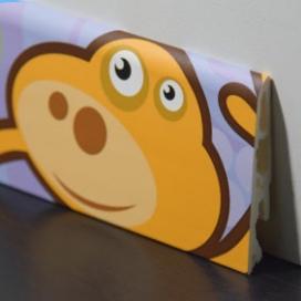 Plintenfabriek | Kinderplint met diertjesprint - eenvoudig online bestellen
