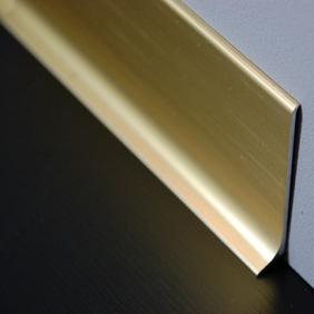 Plintenfabriek   Aluminium plint geborsteld zijdeglans goud - eenvoudig online bestellen