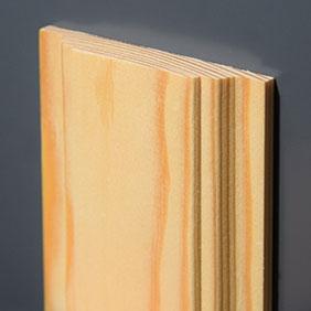 Plintenfabriek   Dubbele curve-architraaf grenenhout - eenvoudig online bestellen