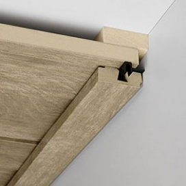 Plintenfabriek | Plafondlijst vierkant MDF E1 met fineerlaag - eenvoudig online bestellen
