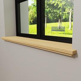 Plintenfabriek | Zelus vensterbank grenen - eenvoudig online bestellen