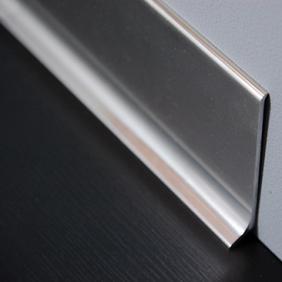 Plintenfabriek | Aluminium plint spiegelend titaniumlook - eenvoudig online bestellen