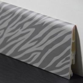 Plintenfabriek | Decorplint met lichte zebraprint - eenvoudig online bestellen