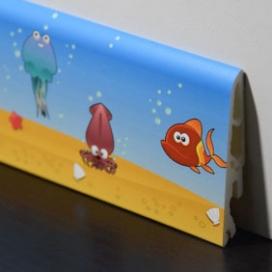 Plintenfabriek | Kinderplint met onderwaterprint - eenvoudig online bestellen