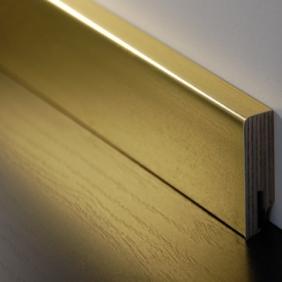Plintenfabriek | Aluminium fineerplint goudlook - eenvoudig online bestellen
