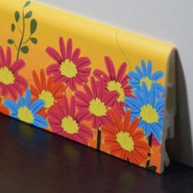 Plintenfabriek | Kinderplint met bloemetjesprint - eenvoudig online bestellen